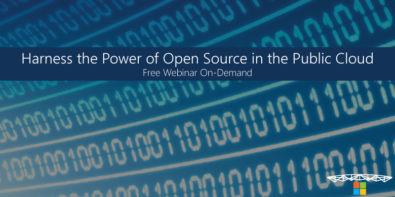 Harness the power of open source in the public cloud - Free Webinar On Demand